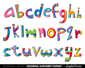 Alphabet letters clip art graphic Items similar to Alphabet clipart color alphabet Digital alphabet ... graphic