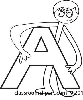 Clipartfest clipart stick school. Alphabet letters clip art black and white