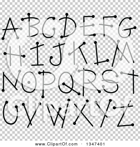Alphabet letters clip art black and white. Clipart of a doodle