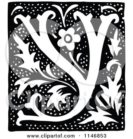 Clipart of a retro. Alphabet letters clip art black and white