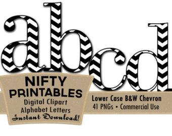 Items similar to Black White Chevron Clip Art Alphabet Letters ... svg black and white stock