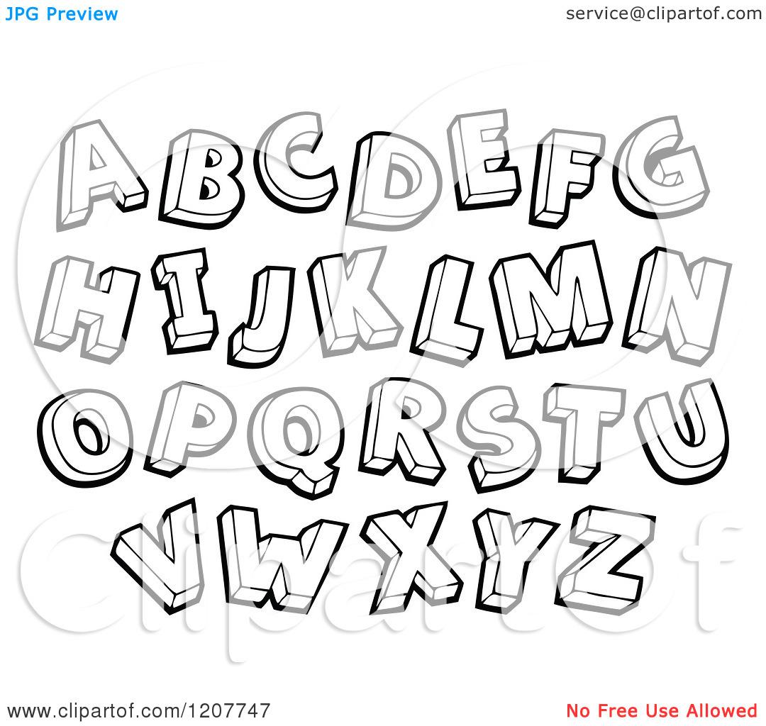 Clipartfest resolution x a. Alphabet letters clip art black and white