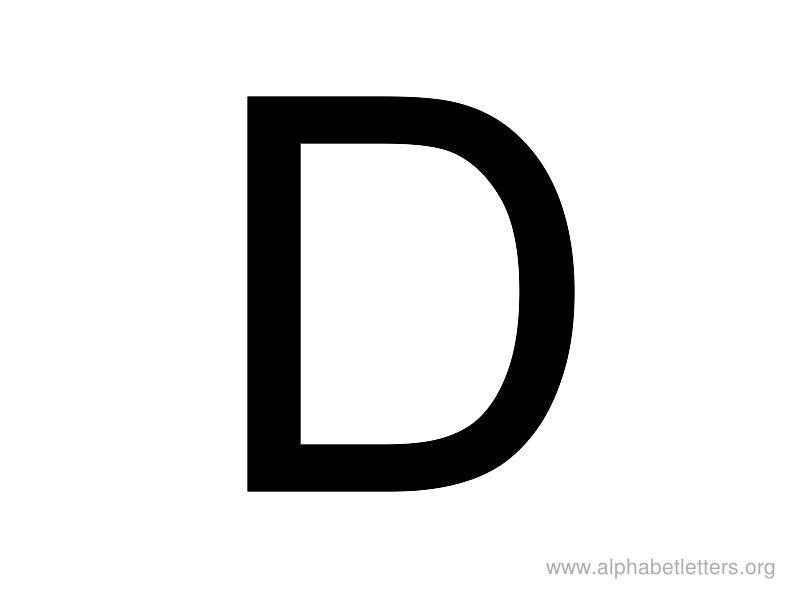 Printable letter alphabets org. Alphabet letters clip art d