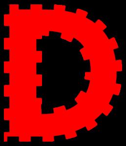 Alphabet letters clip art d png stock Clip art letter d - ClipartFest png stock