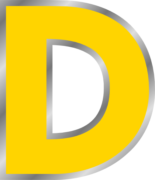 Alphabet letters clip art d. Clipart letter clipartfest vector