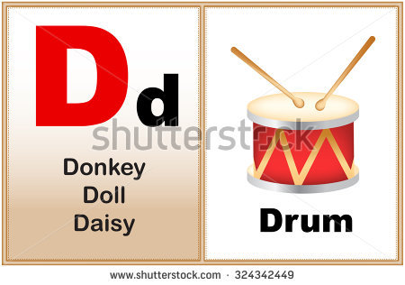 Alphabet letters clip art d. Letter clipart few similar