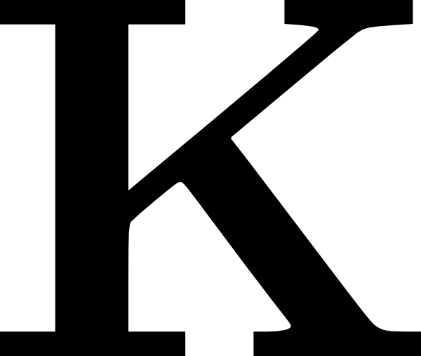 K Monogram Alphabet Clipart - Clipart Kid jpg free