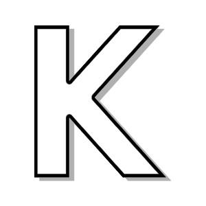 Letter K Clipart & Letter K Clip Art Images - ClipartALL.com clip art black and white library