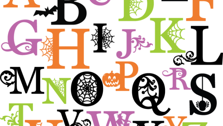 Halloween letter pencil and. Alphabet letters clipart