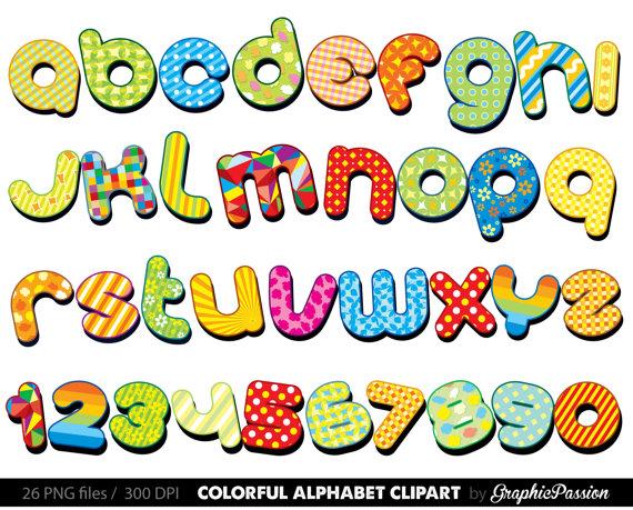 Alphabet letters clipart pictures picture freeuse library Colorful Alphabet clipart Color alphabet Digital alphabet letters ... picture freeuse library