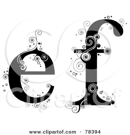 Royalty free rf illustration. Alphabet lower case letter e clipart