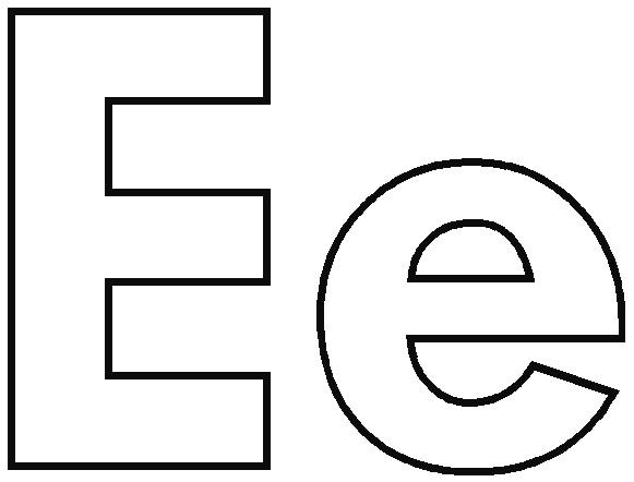 Alphabet lower case letter e clipart svg royalty free Lower Case E Coloring Page Coloring Pages in Lower Case Letter E ... svg royalty free
