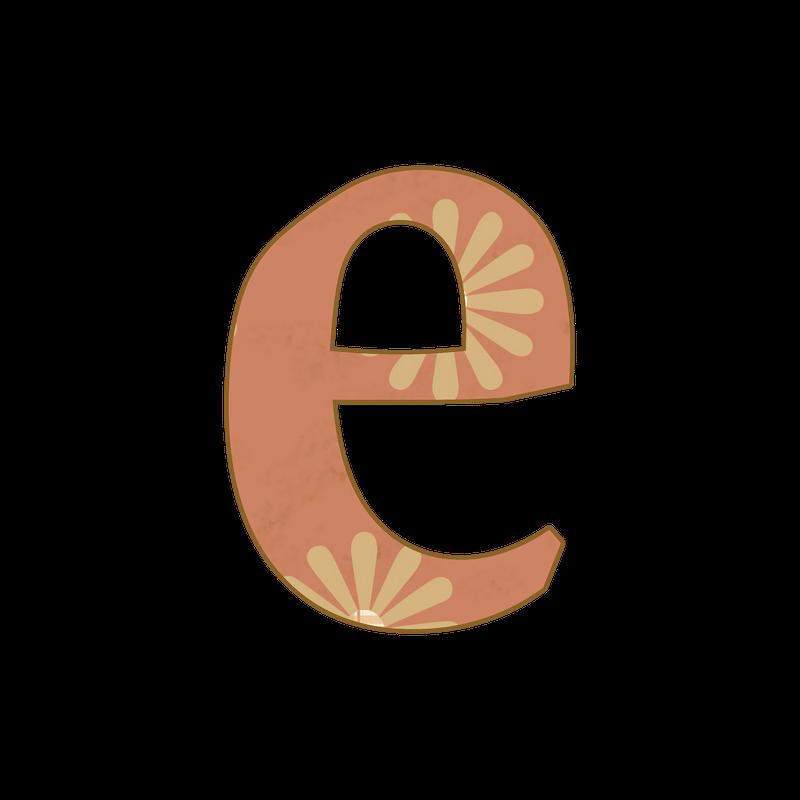 """Alphabet lower case letter e clipart clipart transparent Tan Plaid-Aged Floral"""" PNG Lower Case Free Scrapbook Alphabet ... clipart transparent"""