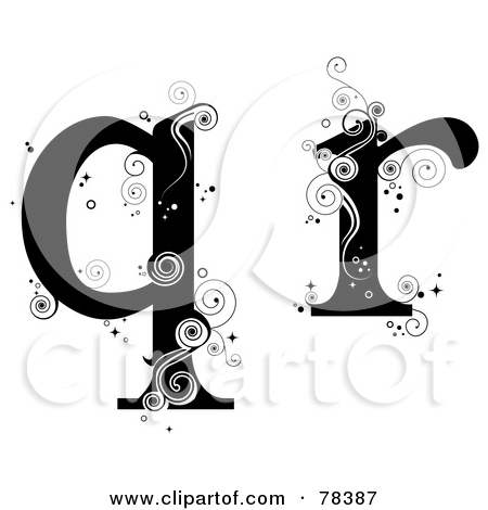 Royalty-Free (RF) Clipart Illustration of a Vine Alphabet Letter R ... clip black and white download