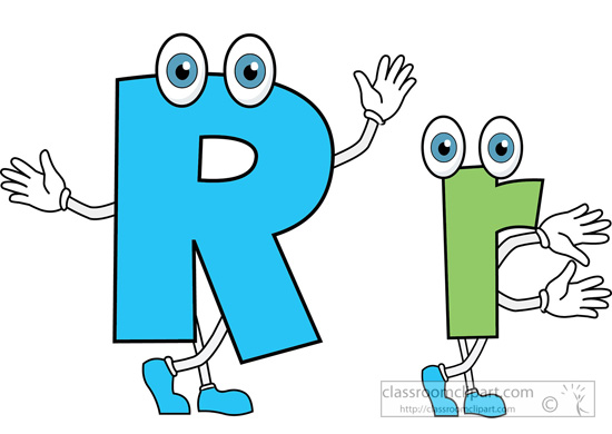 Alphabets : letter-alphabet-r-upper-lower-case-cartoon-clipart ... png black and white stock