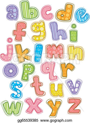 Alphabet lowercase clipart picture transparent download Vector Clipart - Cute alphabet small letters. Vector Illustration ... picture transparent download