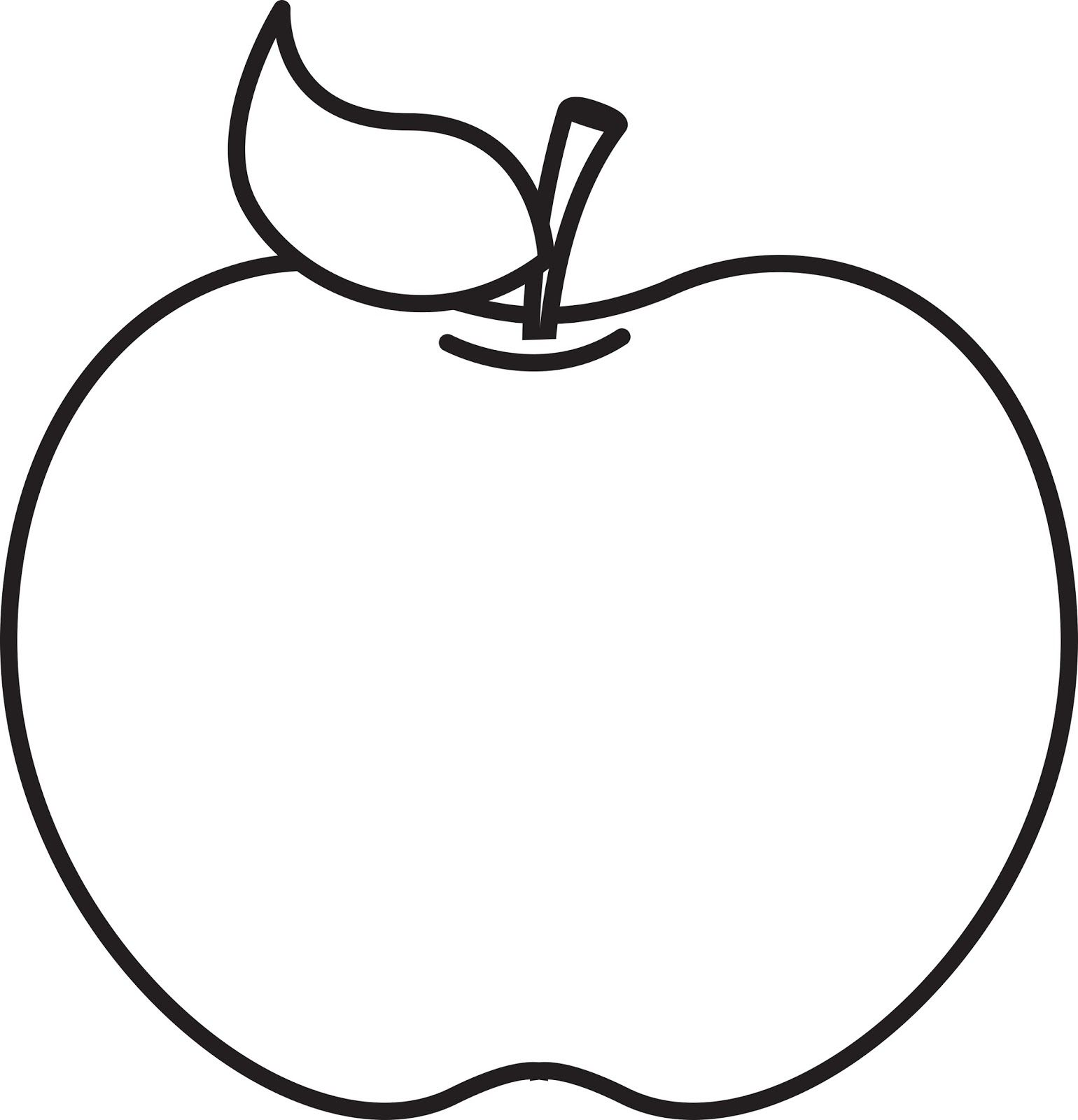 Apple clipart outline while