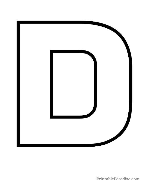 Alphabet outline clipart graphic free Letter Outline Clipart D & Free Clip Art Images #33099 ... graphic free