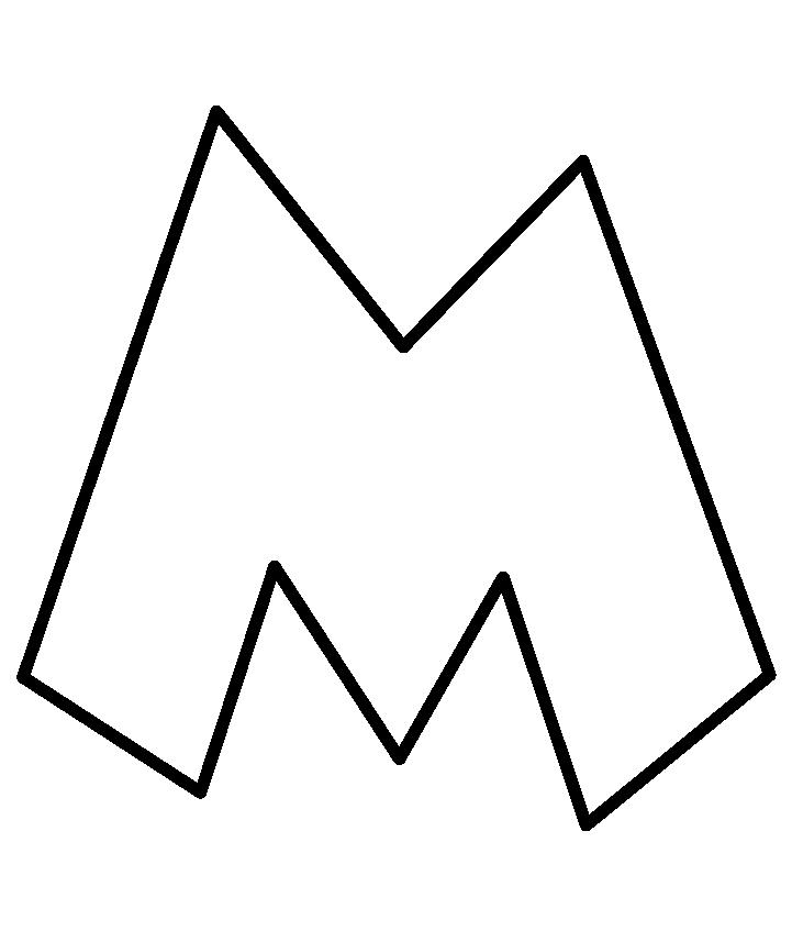 Alphabet outline letter clipart png transparent library Free Letter M Outline, Download Free Clip Art, Free Clip Art on ... png transparent library