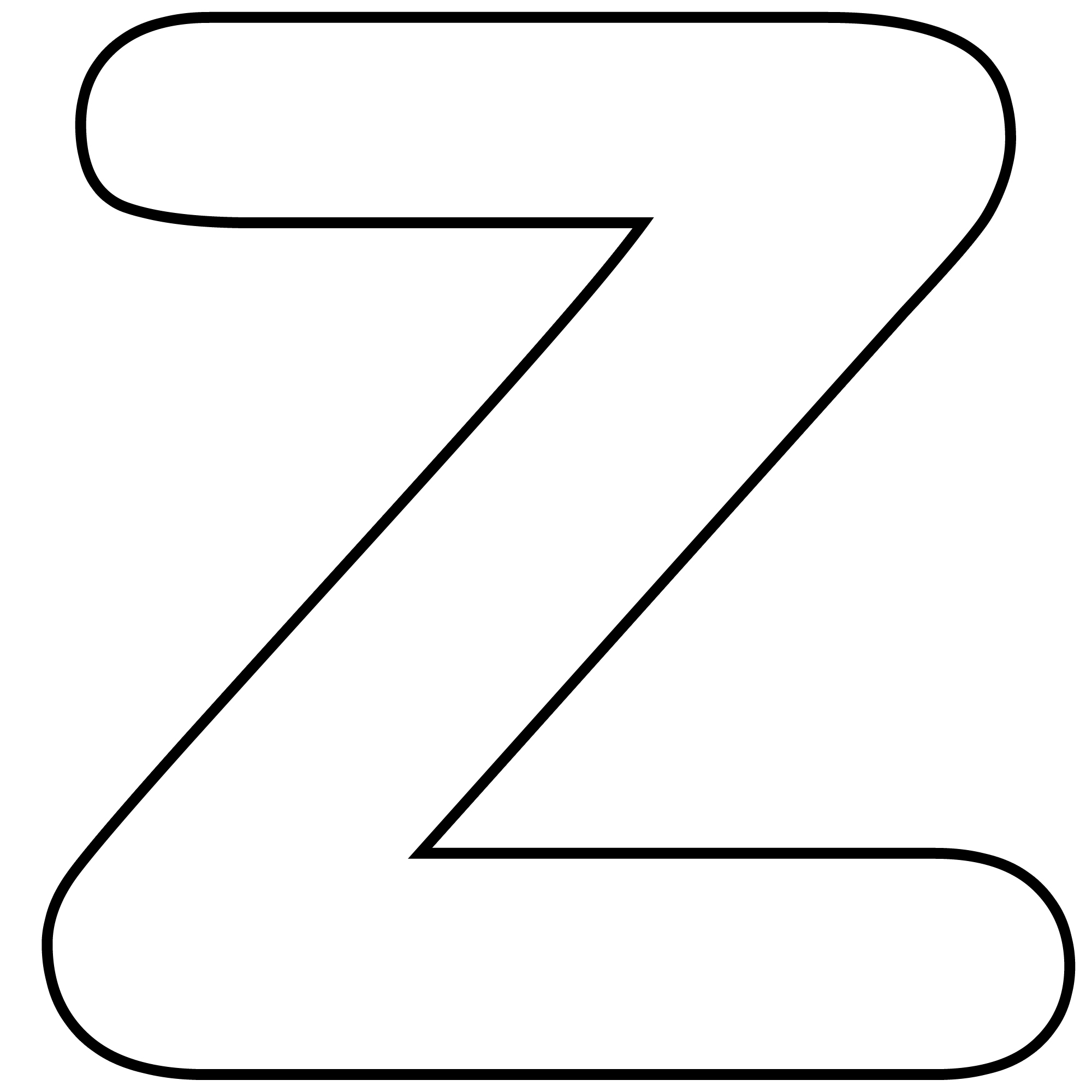Letter z clipart black and white