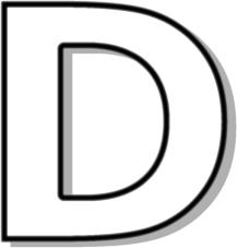 Alphabet outline clipart graphic royalty free download Letter outline clipart d - Clip Art Library graphic royalty free download