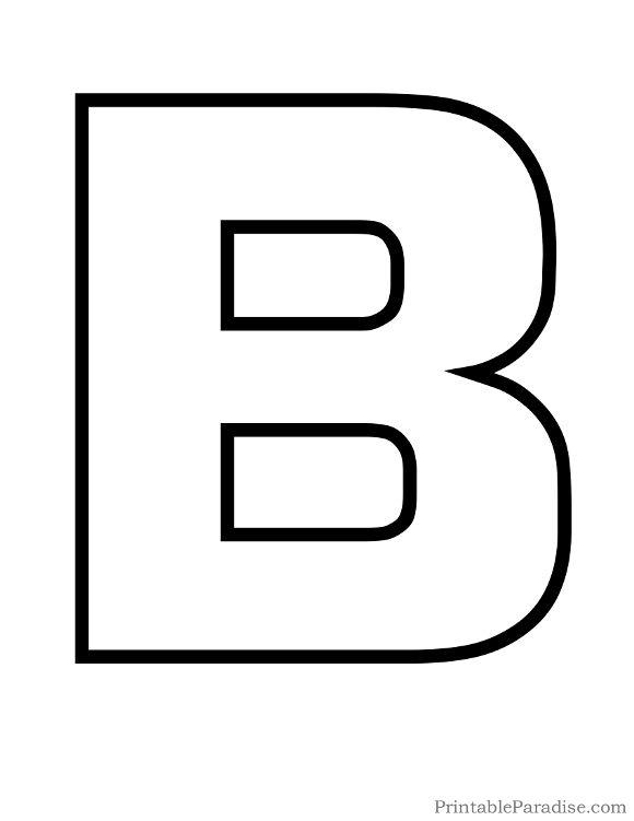 Alphabet outline letter clipart jpg library library Printable Letter B Outline - Print Bubble Letter B | Preschool ... jpg library library