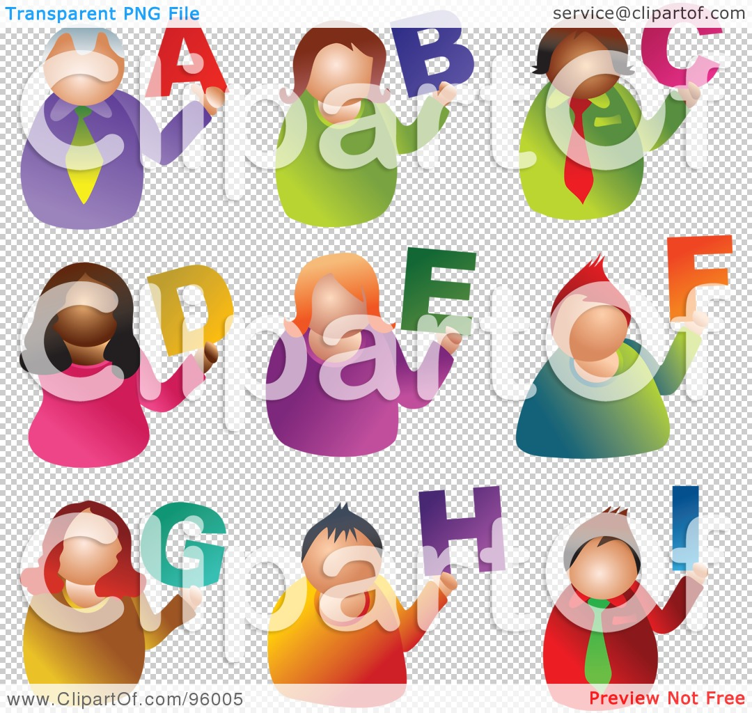 Alphabet people clipart graphic royalty free stock Royalty-Free (RF) Clipart Illustration of a Digital Collage Of ... graphic royalty free stock