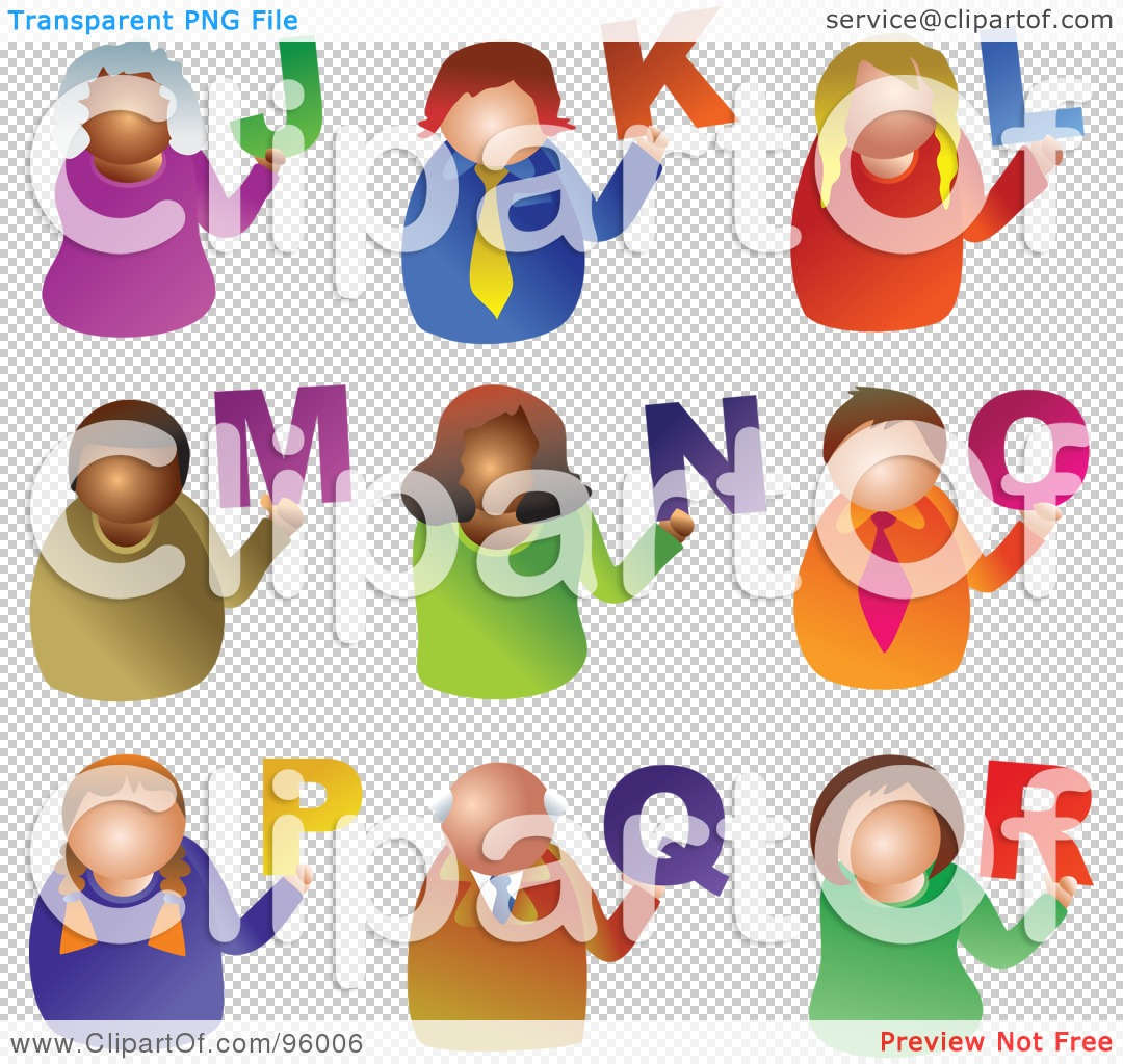 Royalty free rf illustration. Alphabet people clipart