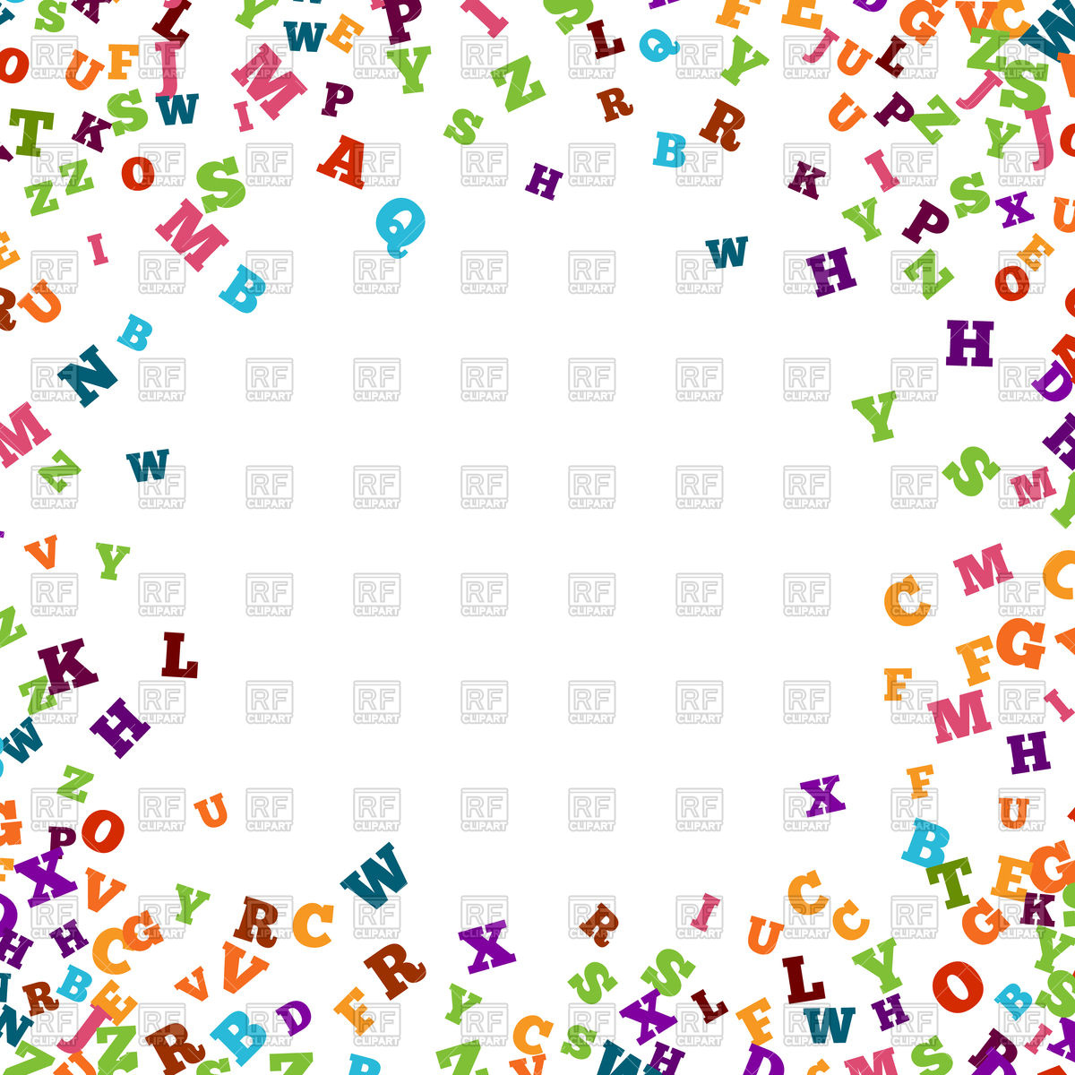 Alphabet people clipart. Border clipartfest abstract colorful