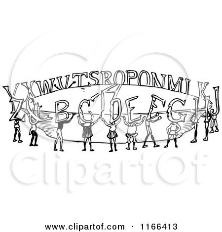 Royalty free letter t. Alphabet people clipart