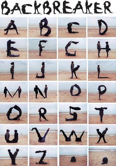 alphabet using people to make the letters! | Clipart and Fonts ... transparent download
