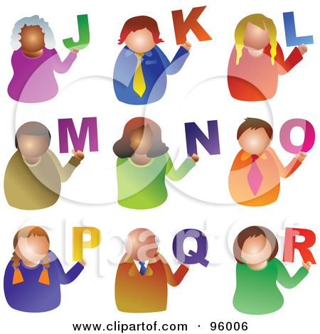 Clipartfest collage of . Alphabet people clipart