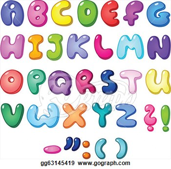 Alphabet pictures clip art clip art transparent library Bubble Letter Alphabet Clipart - Clipart Kid clip art transparent library