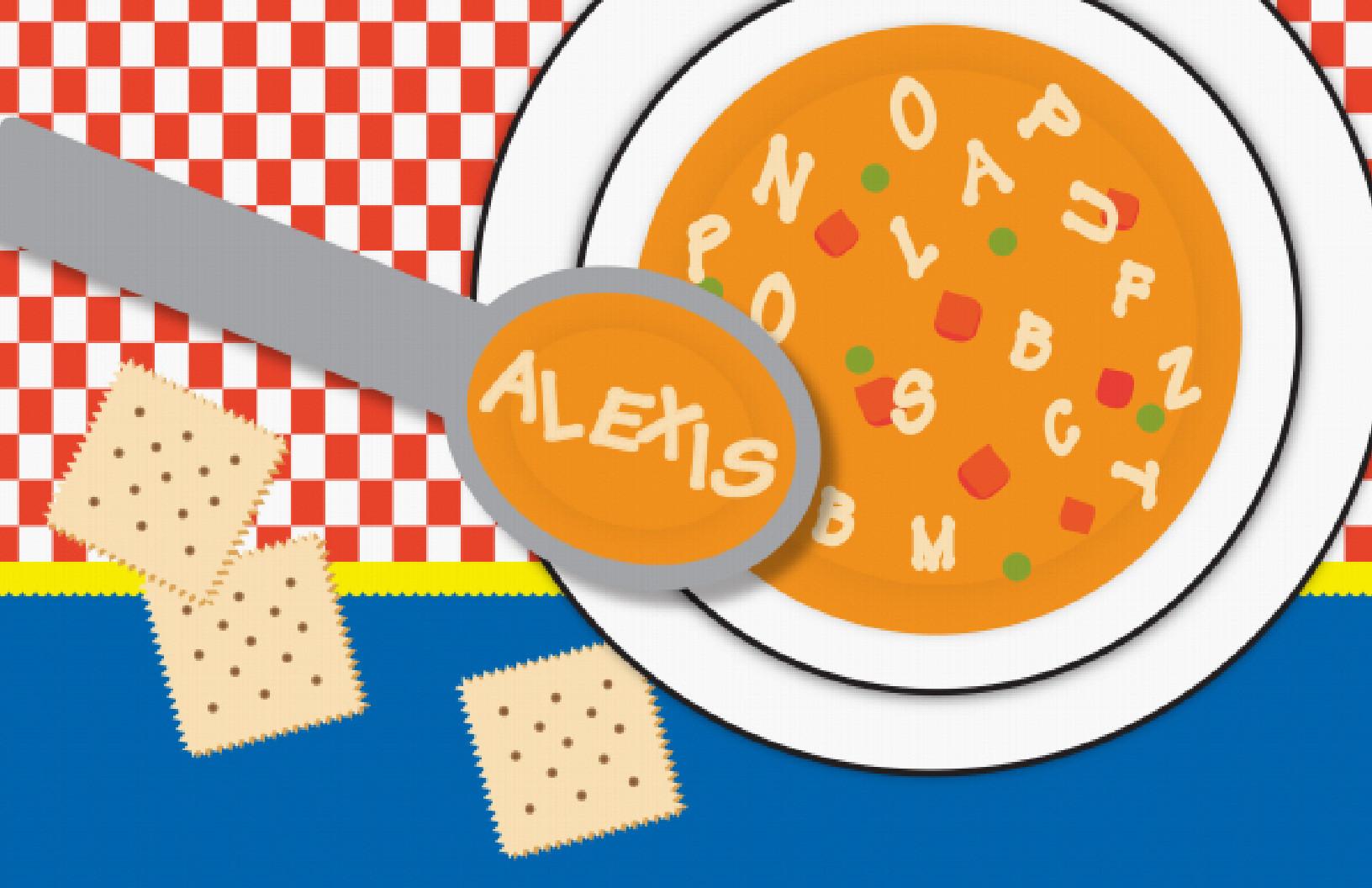 Alphabet soup clip art svg free Personalized Alphabet Soup Placemat | Frecklebox svg free