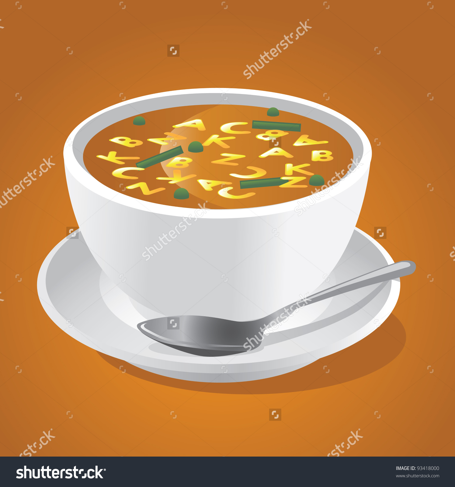 Alphabet Soup Eps 8 Vector Grouped Stock Vector 93418000 ... black and white stock