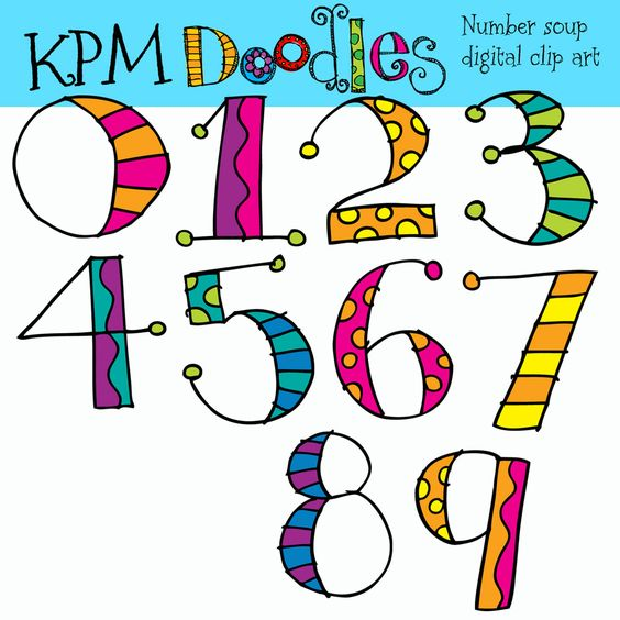 KPM Doodles: Numbers to Match Alphabet Soup - I need these! | Clip ... clip transparent library