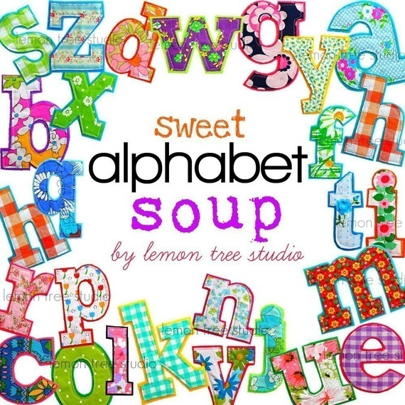 Alphabet soup clip art vector free Digital Clip Art Sweet Alphabet Soup vector free