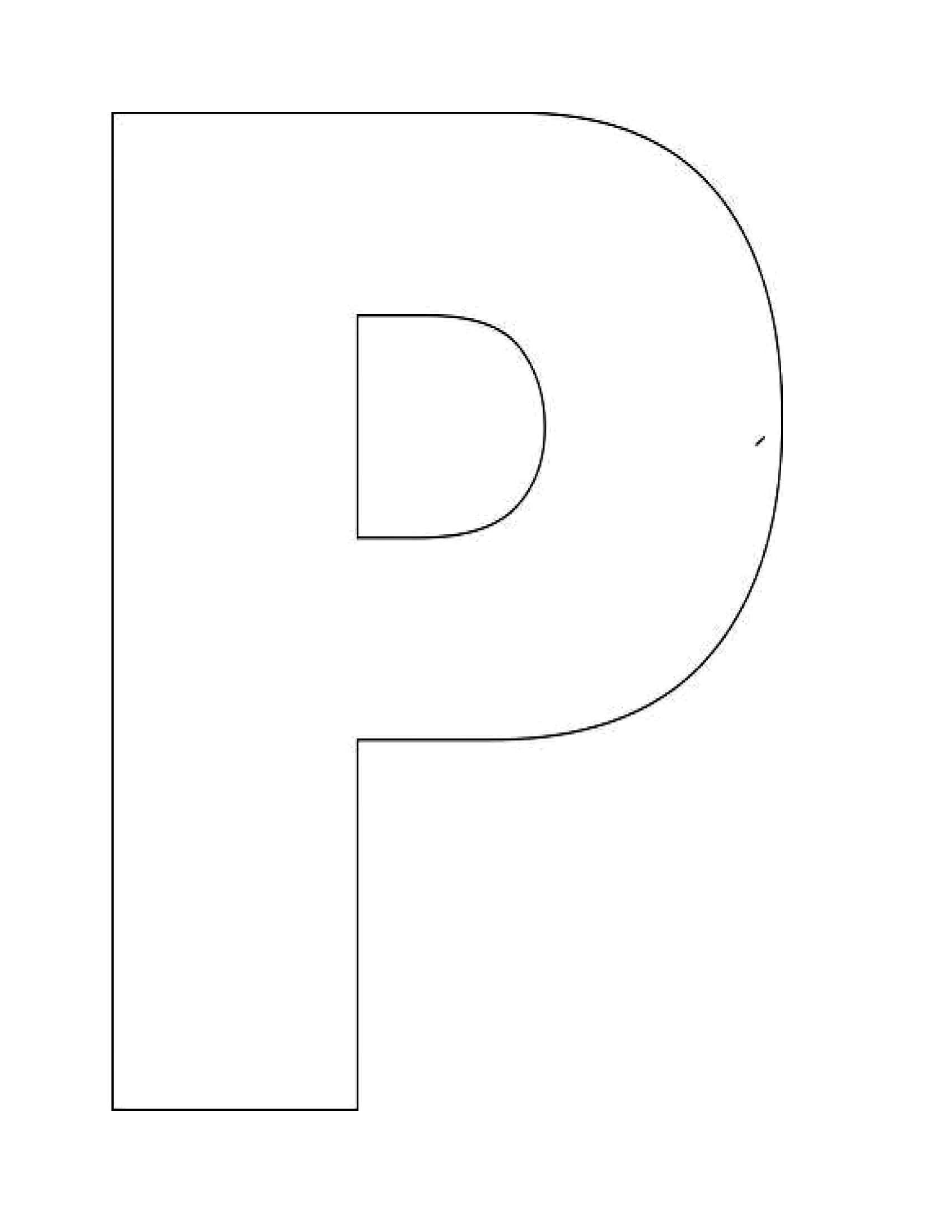 Alphabet stencil clip art png stock Letter p stencil clipart - ClipartFest png stock
