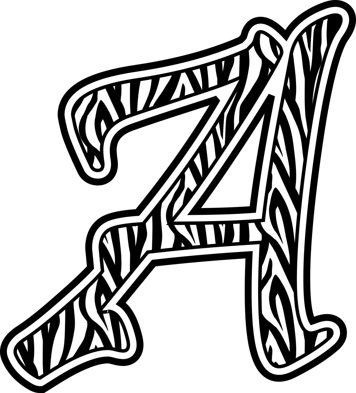 Alphabet stencil clip art svg download Printable Zebra Print Stencil | Free Download Clip Art | Free Clip ... svg download