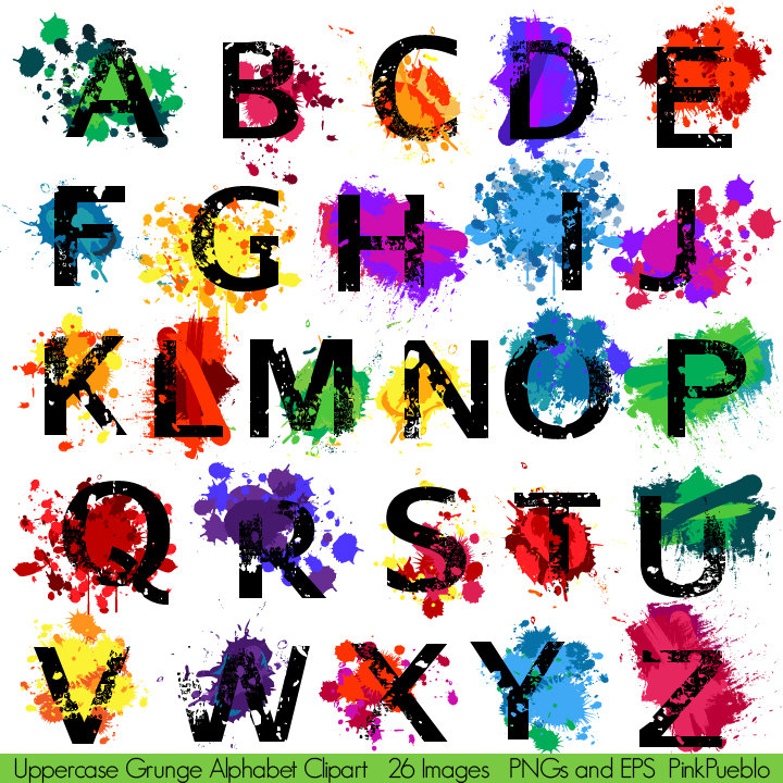 Alphabet stencil clip art image library stock Alphabet Stencils Fonts Clipart image library stock