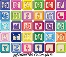 Alphabets clipart free svg stock Alphabet Clip Art - Royalty Free - GoGraph svg stock