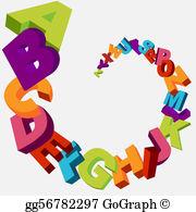 Alphabets clipart banner stock Alphabet Clip Art - Royalty Free - GoGraph banner stock