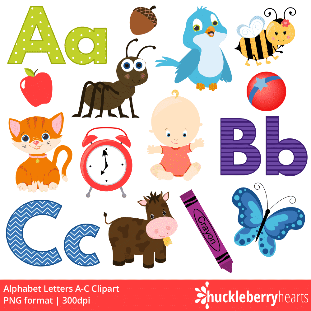 Letters in clipart freeuse library Alphabet Letters A-C Clipart freeuse library