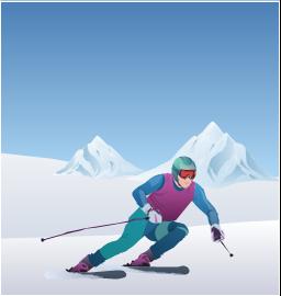 Alpine skier clipart svg transparent Winter Olympics - Alpine skiing svg transparent