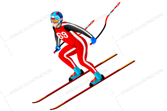 Alpine skier clipart clip black and white stock Alpine Skiing Downhill Clipart clip black and white stock