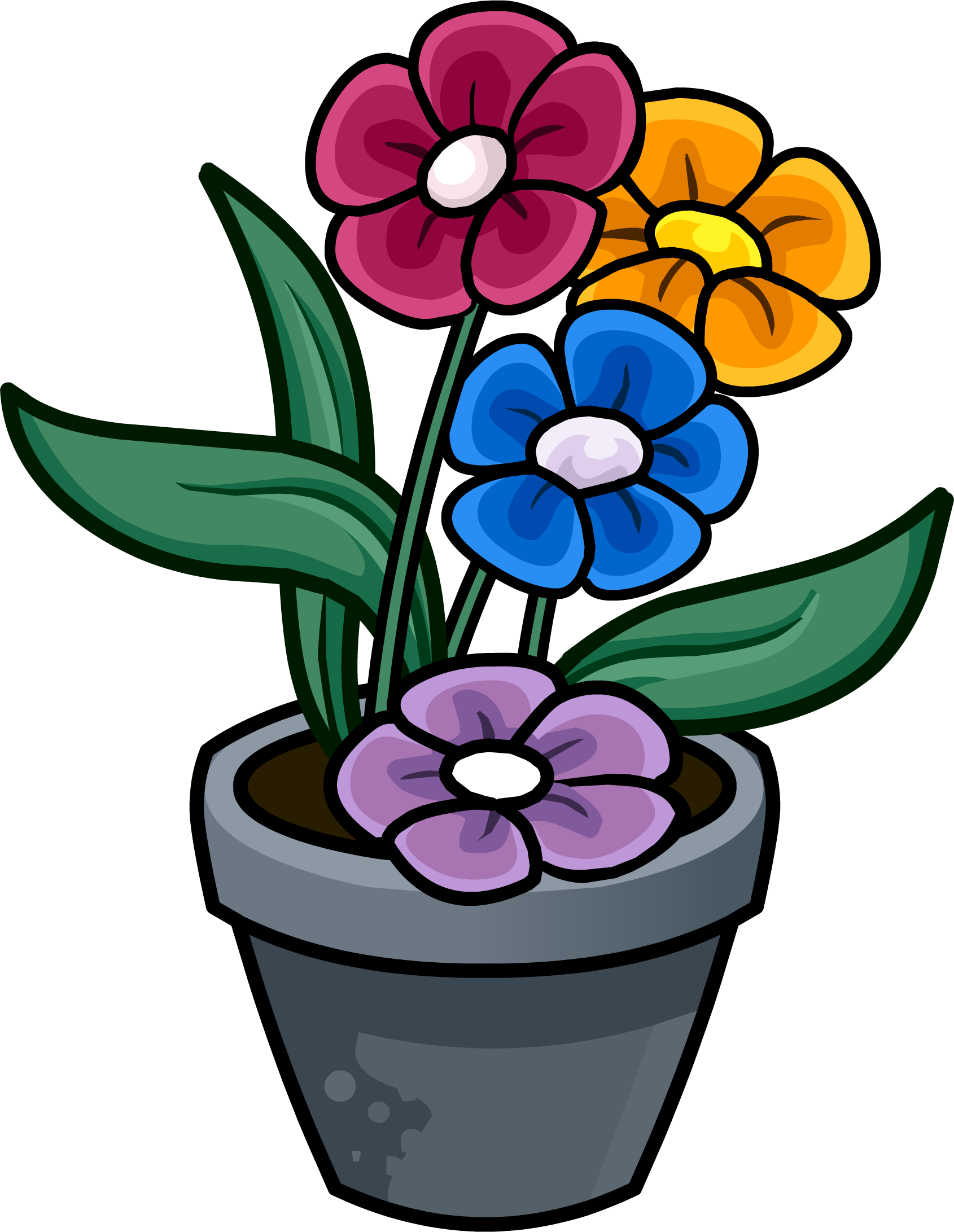 Flower in a pot clipart svg free library Flowerpots Clipart plant pot - Free Clipart on Dumielauxepices.net svg free library