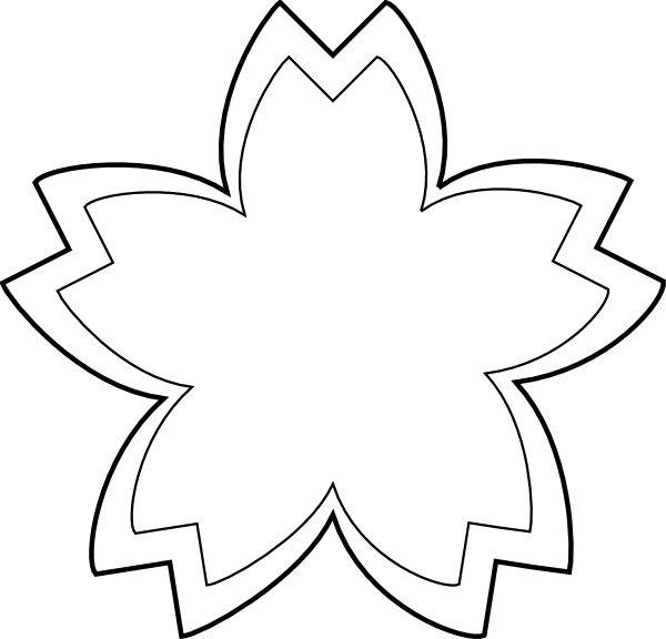 Altar flower clipart black and white banner black and white Sandcastle Outline | Simple Flower Outline clip art - vector clip ... banner black and white