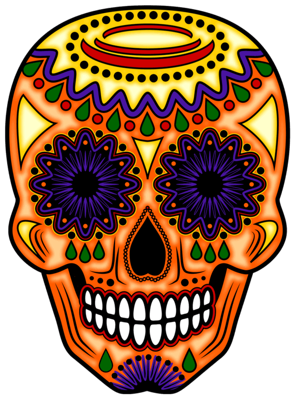 Altar with skull clipart banner black and white Day Of The Dead Art : Day Of The Dead : Day Of The Dead Altars banner black and white