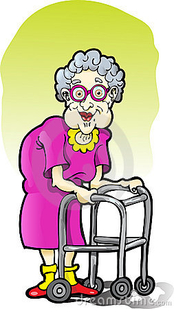 Old Lady With Walker Clipart - Clipart Kid banner royalty free library