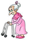 Alte frau clipart. Old lady clip art
